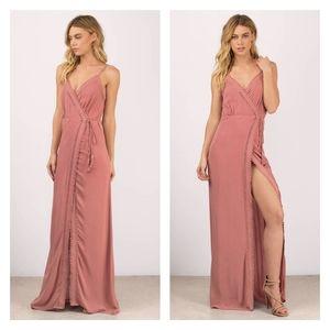 TOBI NWT Terracotta Mauve Wrap Maxi Dress Size M